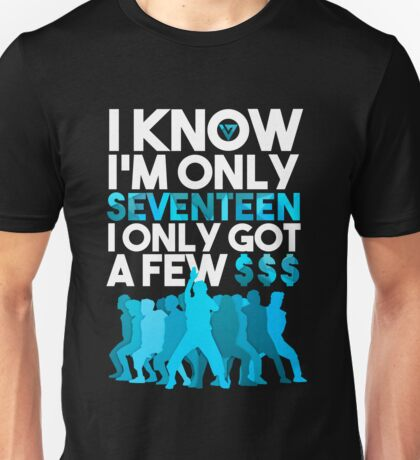 SEVENTEEN Shining Diamonds Lyrics Unisex T-Shirt