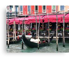 Restaurant on the Grand Canal - Venice, Italy Canvas Print