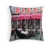 Restaurant on the Grand Canal - Venice, Italy Throw Pillow