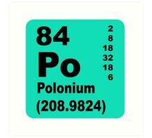 Polonium periodic table of elements Art Print