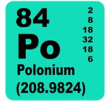 Polonium periodic table of elements by walterericsy