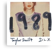 Taylor swift Deluxe 1989 Cover Canvas Print
