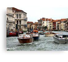 Monday Morning Traffic - Venice, Italy Canvas Print