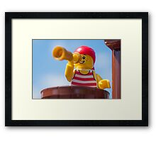 Bum leg, it's the crow's nest for you Framed Print