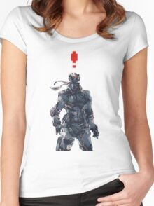 Retro Solid Snake Women's Fitted Scoop T-Shirt