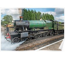 The Odny Manor Steam Loco West Somerset Railway Poster