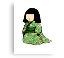 Little Japanese Girl Canvas Print