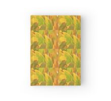 Autumn Leaves - Nature in Gold and Green Hardcover Journal