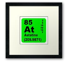 Astatine periodic table of elements Framed Print