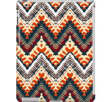 Bohemian print with chevron pattern in organic retro colors iPad Case/Skin