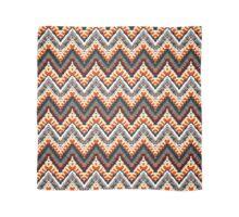 Bohemian print with chevron pattern in organic retro colors Scarf