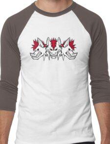 Triple threat white version Men's Baseball ¾ T-Shirt