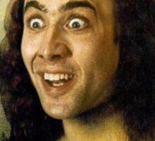 Nicolas Cage - Mona Lisa Sticker