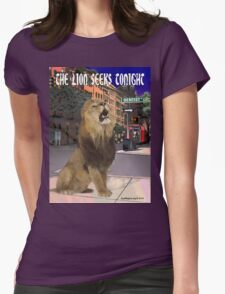 The Lion Seeks Tonight Womens Fitted T-Shirt