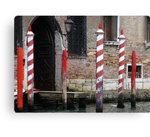 Doorway on the Grand Canal - Venice Canvas Print