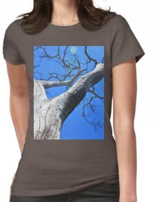 Tree of Light - Nature Background of Age Womens Fitted T-Shirt