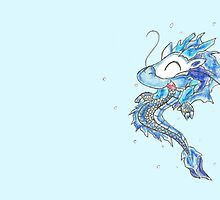 Baby Eastern Ice Dragon by KOKeefeArt
