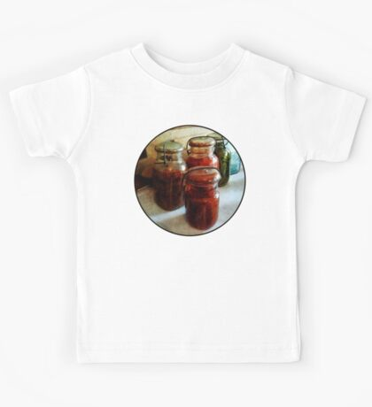 Tomatoes and String Beans in Canning Jars Kids Tee
