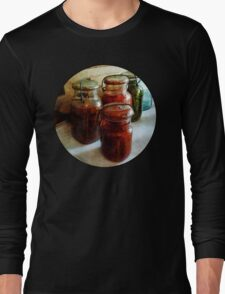 Tomatoes and String Beans in Canning Jars Long Sleeve T-Shirt