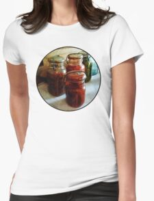 Tomatoes and String Beans in Canning Jars Womens Fitted T-Shirt