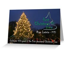 First Christmas Tree Commemorative Card Greeting Card