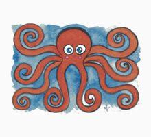 Kawaii Octopus  Kids Tee