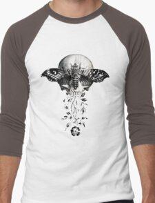 Metamorphosis Design on Black or Dark Color Men's Baseball ¾ T-Shirt