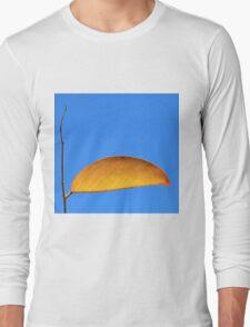 Golden Leaf - Simplistic Natural Beauty Long Sleeve T-Shirt