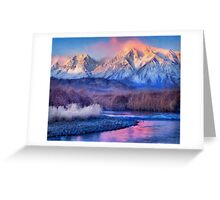 Foot of the mountains Greeting Card
