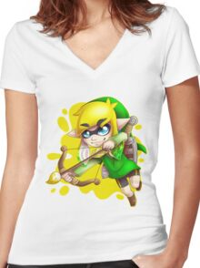 Toon L ink Women's Fitted V-Neck T-Shirt