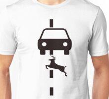 Car hitting deer! Unisex T-Shirt