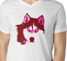 Neon Husky Mens V-Neck T-Shirt