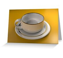 Cup & Saucer - 3d Computer Generated Image Greeting Card