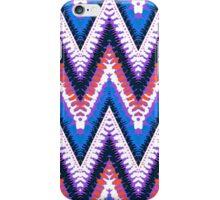 Bohemian print with chevron pattern in purple iPhone Case/Skin