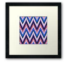 Bohemian print with chevron pattern in purple Framed Print