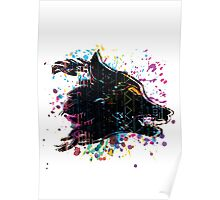 Aztec Wolf Poster