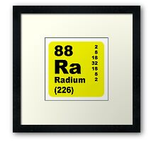 Radium Periodic table of elements Framed Print
