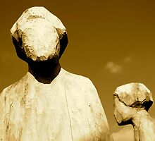 Blank Expression - Faceless Statues Standing in Warsaw by Kutor