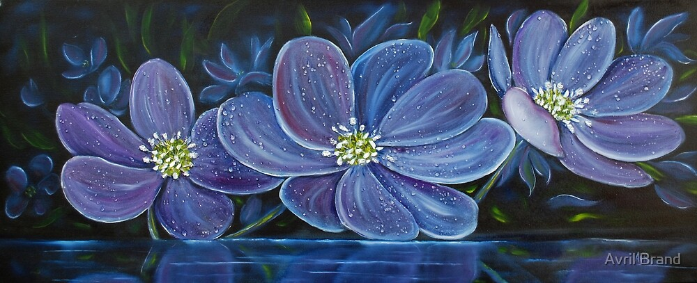 Flower Pool - Oil Painting by Avril Brand