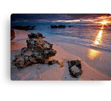 Last rays...Trigg Beach, Perth Canvas Print