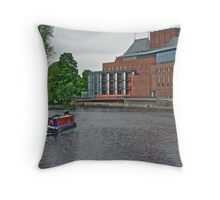 Stratford upon Avon Riverside Throw Pillow