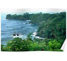 Island Shoreline Poster