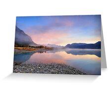 Lake in the morning Greeting Card