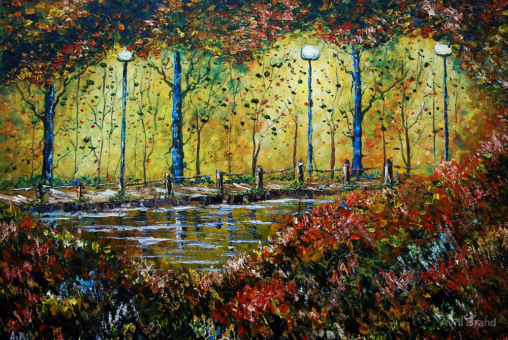 Autumn Path - Oil Painting by Avril Brand