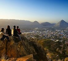 Watching The Beauty of Nature at Pushkar by Mukesh Srivastava