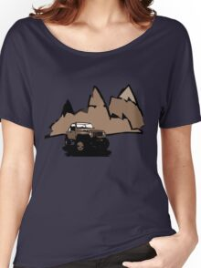 Jeeping It!: BROWN Women's Relaxed Fit T-Shirt