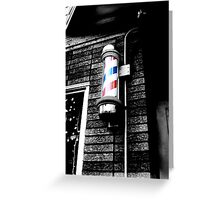 Barbershop in Little Italy  Greeting Card