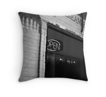 There Is An Open Sign On Somewhere-New Jersey Throw Pillow
