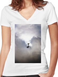Christ the Redeemer Women's Fitted V-Neck T-Shirt