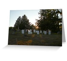 headstones in the sun Greeting Card